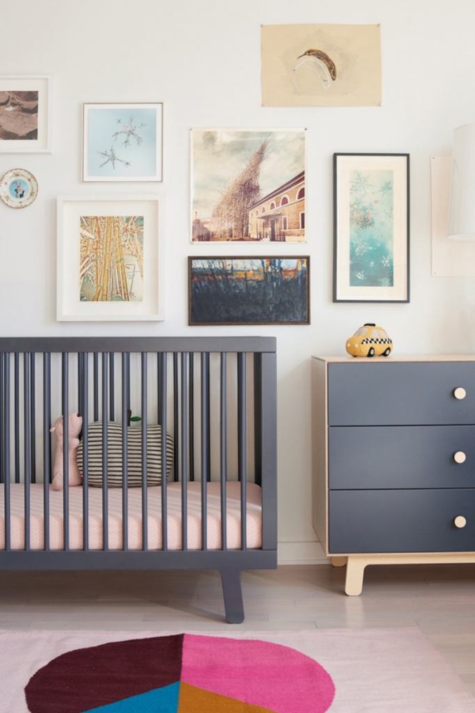 Child's cot and elegant bedroom